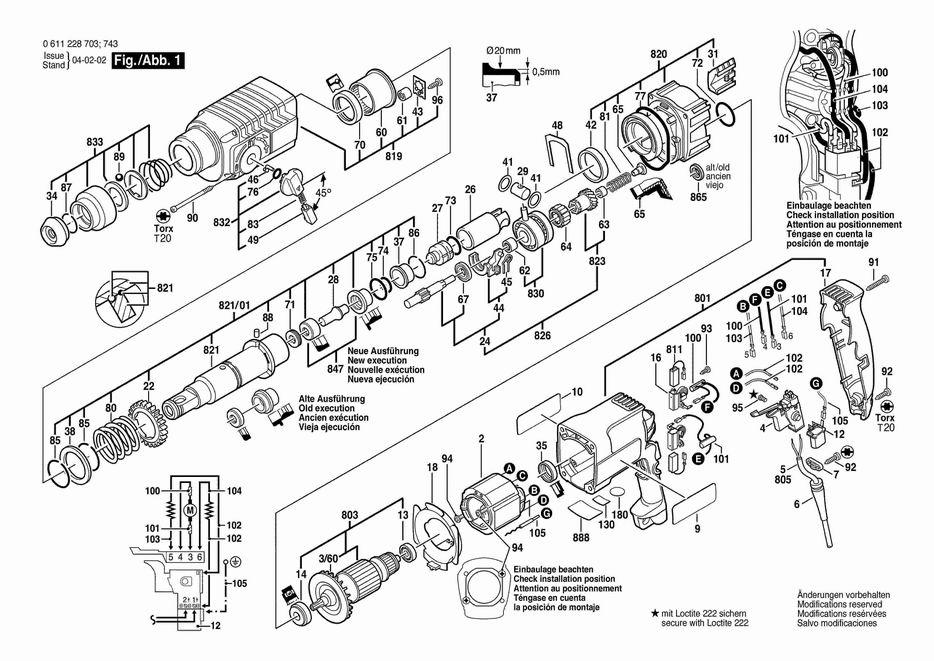 Схема сборки перфоратора бош 3